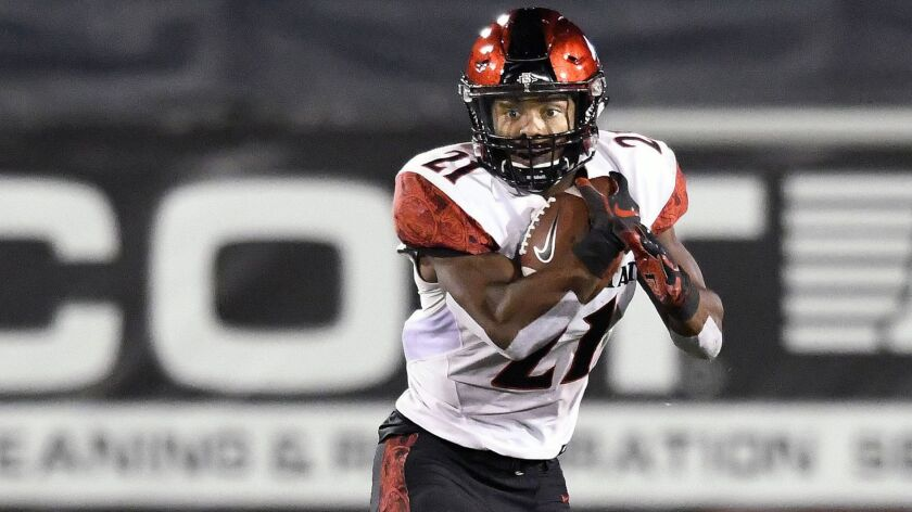 Former Burroughs High star Chance Bell, a redshirt freshman running back on the San Diego State Univ
