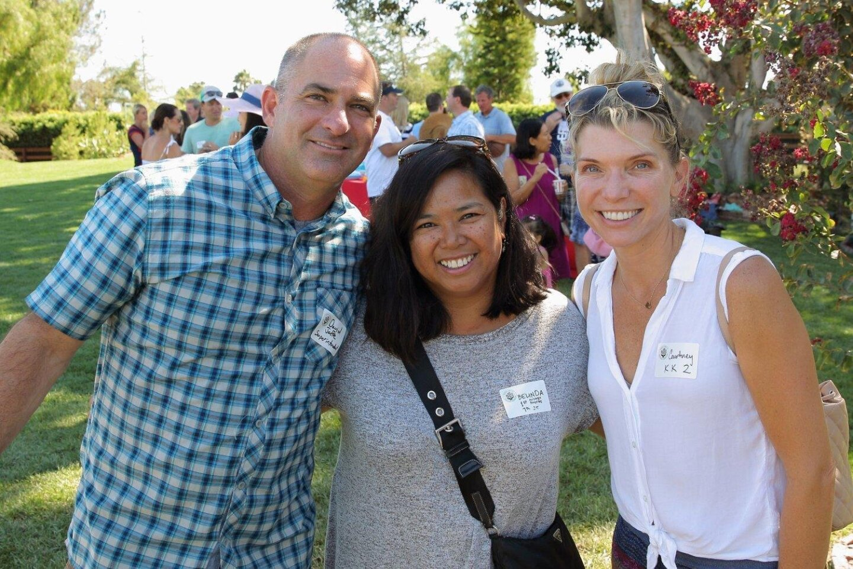 Superintendent David Jaffe, Belinda Young, Courtney Murphy