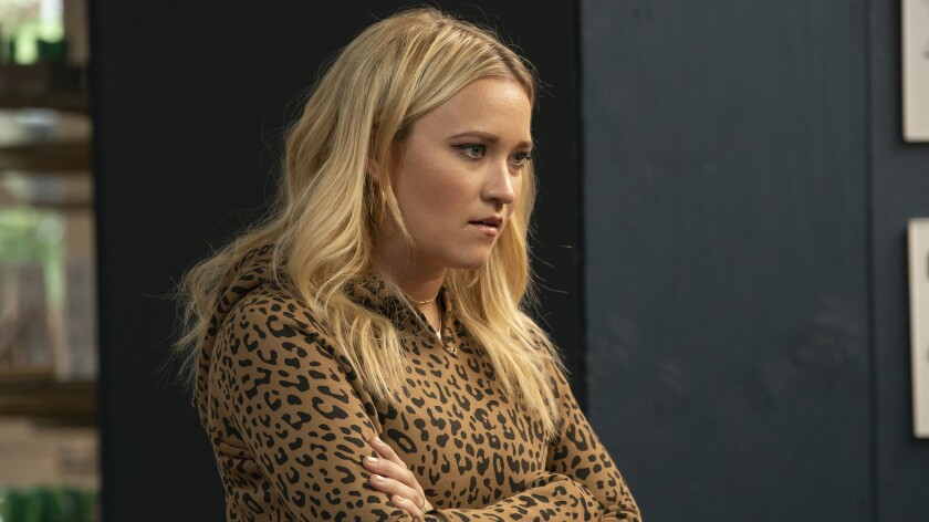 "Emily Osment in a new episode of the dramedy ""Almost Family"" on Fox."