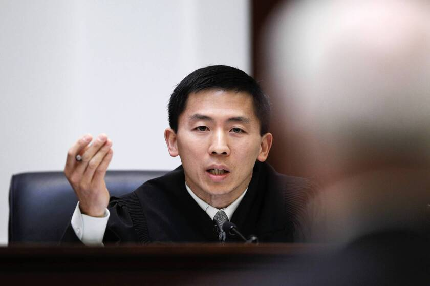 """Speaking for the California Supreme Court in the worker bias cases, Justice Goodwin Liu, shown in a separate case in 2012, said, """"There is no question that an employment decision motivated in substantial part by discrimination inflicts dignitary harm on the affected individual, even if the employer would have made the same decision in the absence of discrimination."""""""