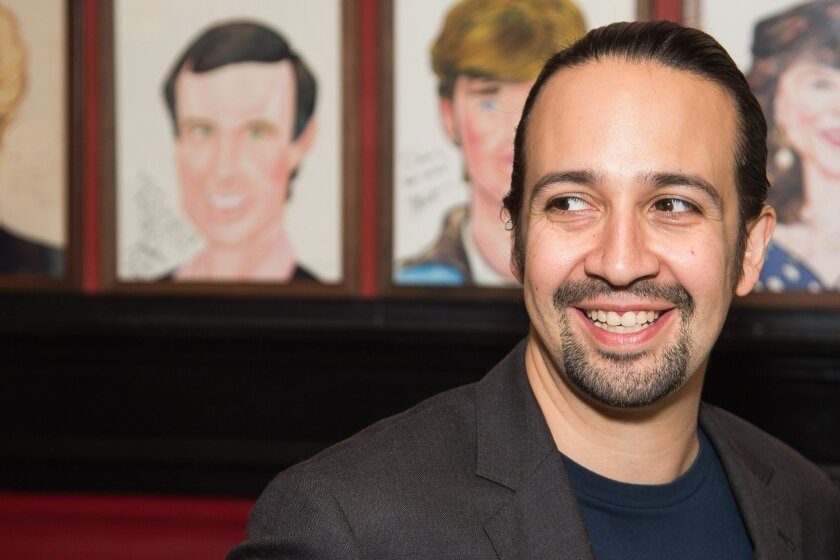 Lin-Manuel Miranda attends his Sardi's caricature unveiling at Sardi's restaurant on Tuesday, May 24, 2016, in New York. (Photo by Charles Sykes/Invision/AP)