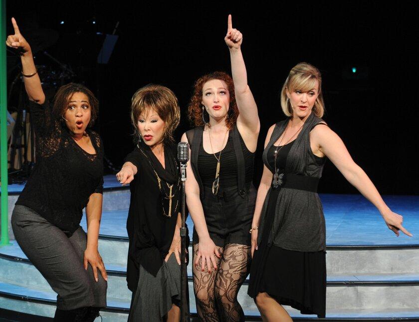 "Lisa H. Payton, Leigh Scarritt, Kelsey Venter and Nancy Snow Carr in ""Respect: A Musical Journey of Women."""