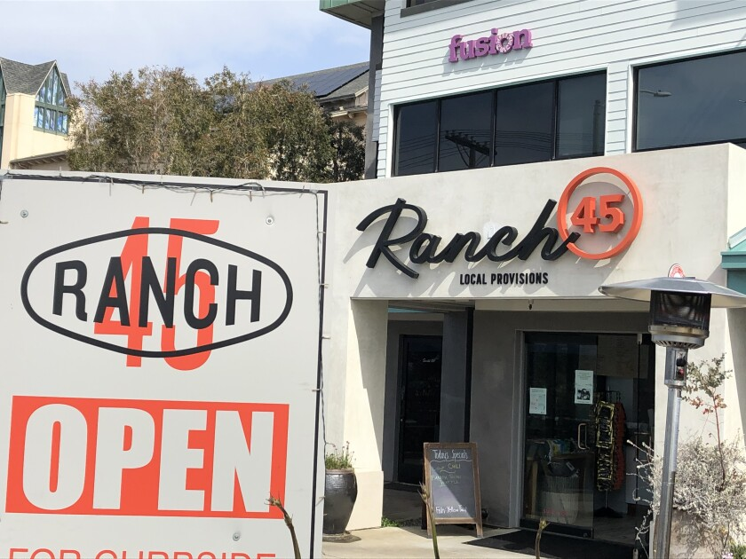 Ranch 45 in Solana Beach is now doing full dinner service with seasonal menus.