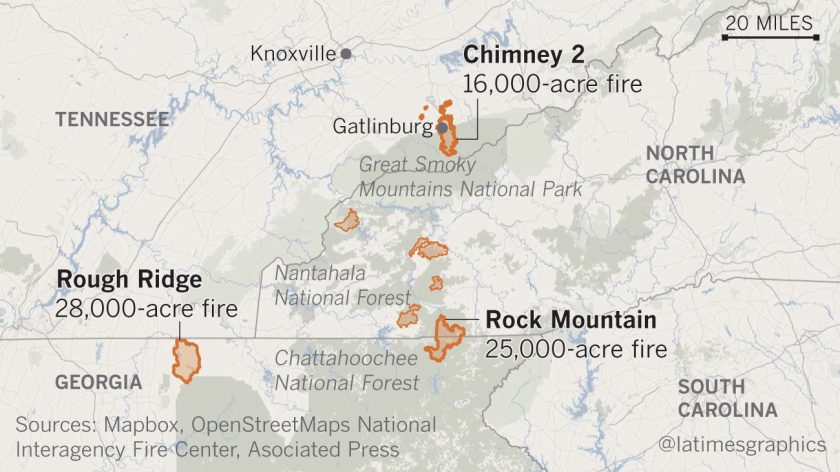 Rain finally comes to fire-ravaged Tennessee — along ...