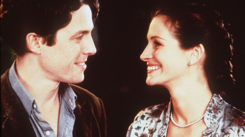 """Hugh Grant and Julia Roberts in """"Notting Hill."""""""