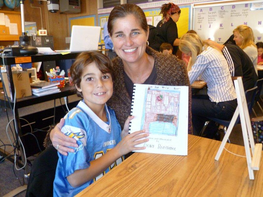 Lisa Bonebrake, La Jolla Cluster Association board member, shares a moment with her son, Grant. COURTESY