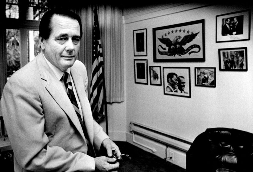 Ed Reinecke is photographed in Sacramento a week before taking over as state chairman of the Republican Party in 1983.