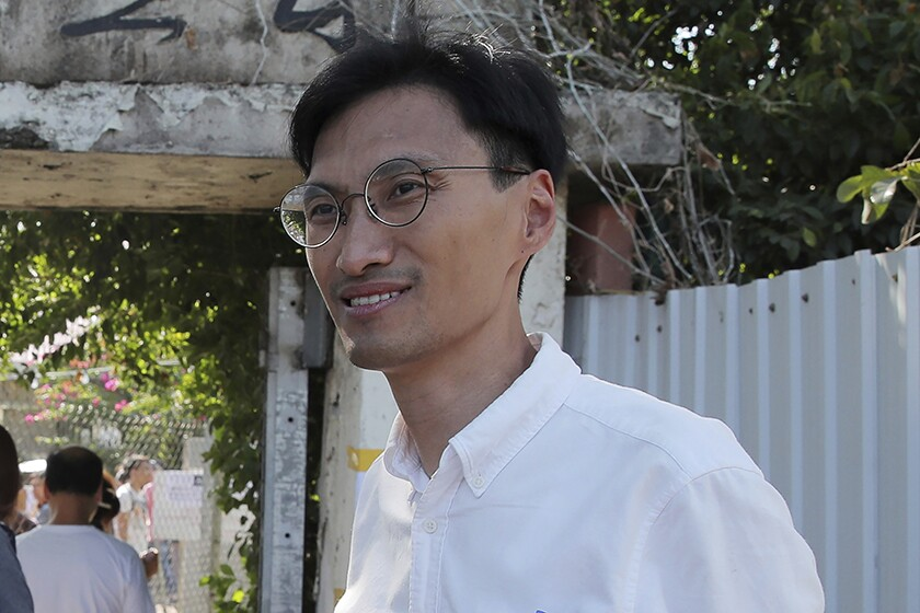 Former Hong Kong lawmaker Eddie Chu was among those arrested Sunday.