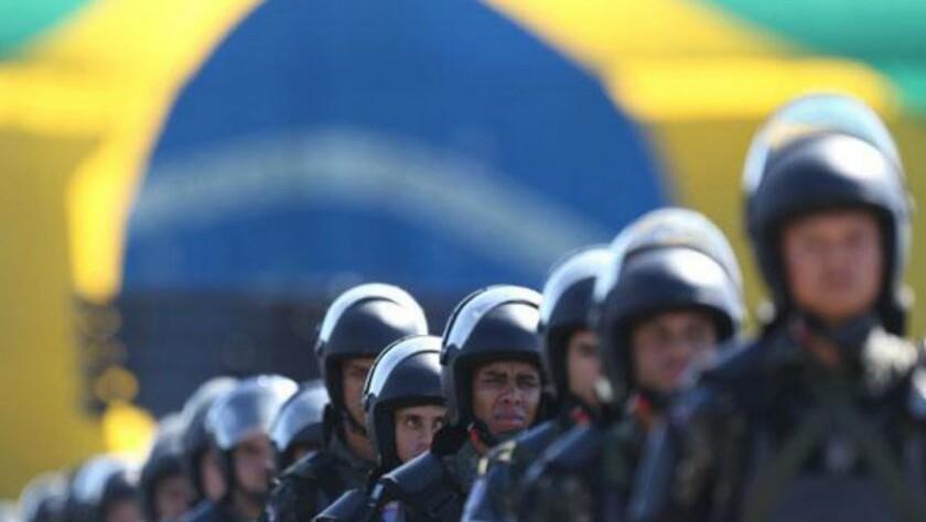 Los elementos de seguridad de Brasil están en alerta...