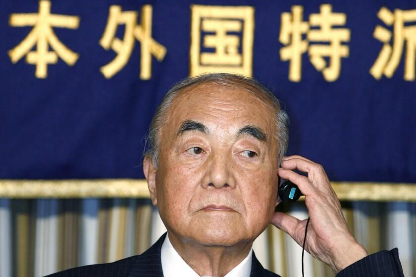 Japan Obit Nakasone