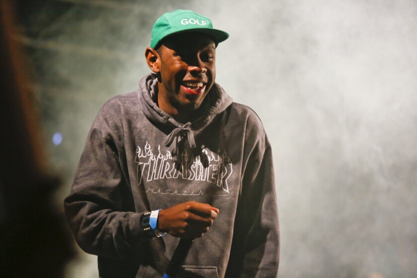 "The cover of Tyler, the Creator's album ""Wolf."" the rapper was arrested on charges stemming from a South By Southwest performance."
