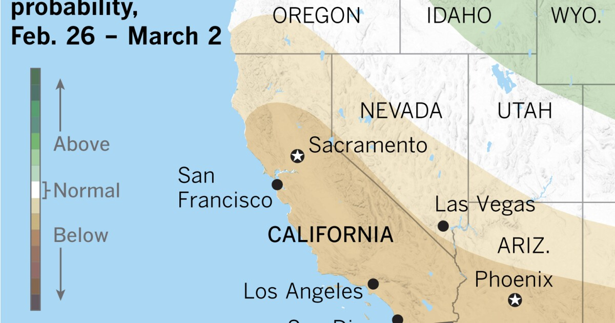 'Mega-miracle' will be needed to overcome dry February in Los Angeles