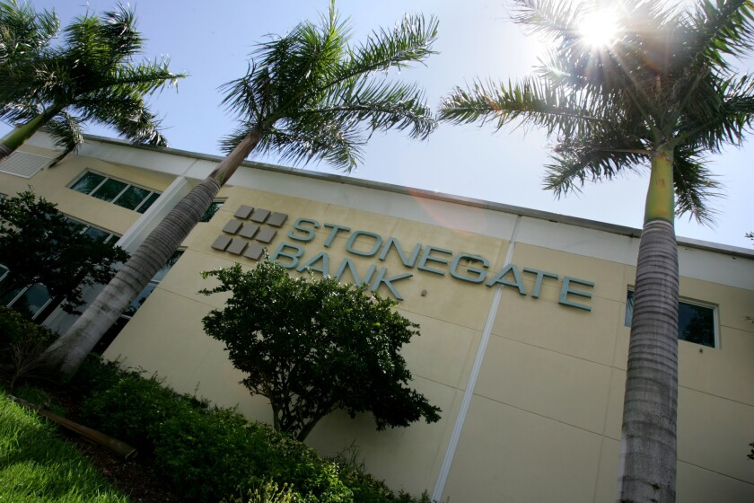 Pompano Beach-based Stonegate Bank announced Friday it had completed the merger with Community Bank of Broward.