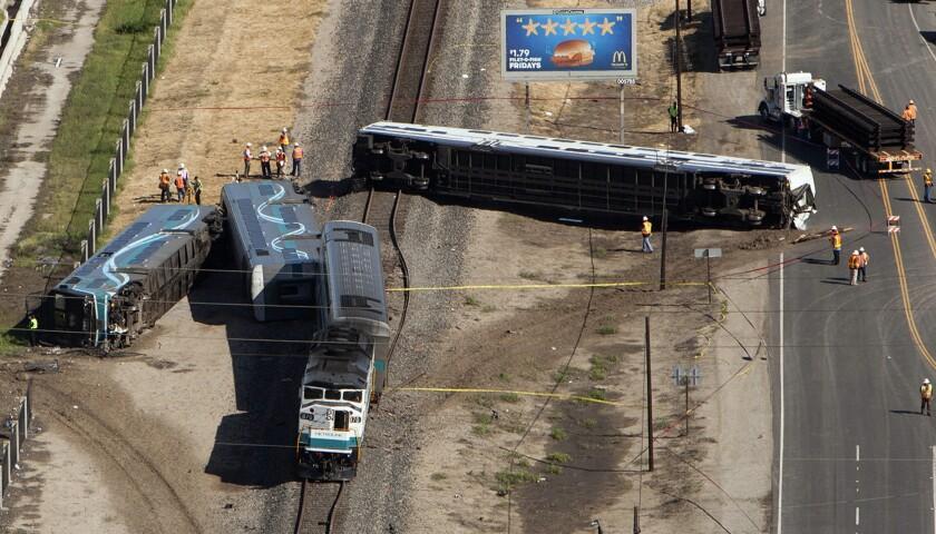 Metrolink train derailment near Oxnard