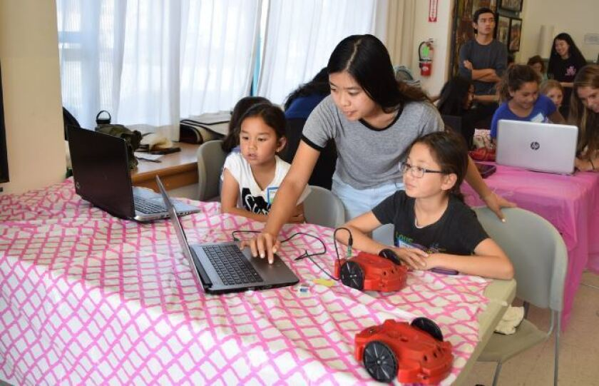 The All-Girls STEM Society has hosted several workshops at the Carmel Valley Library.