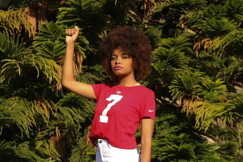 Jaelyn Kennedy poses for a portrait on June 4, 2020 in El Cajon, California.