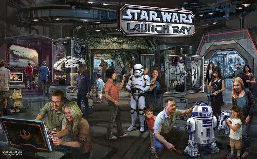 Star Wars Launch Bay at Disneyland Park.