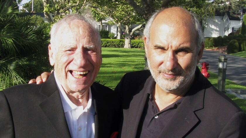 "Mel Brooks, left, and Alan Yentob in ""Mel Brooks: Unwrapped"" on HBO."