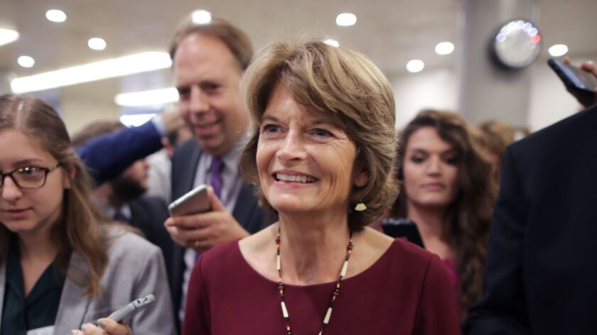 Sen. Lisa Murkowski (R-Alaska), shown in the U.S. Capitol in 2018, told an interviewer this week that she doesn't want the Senate to coordinate with the White House over how to handle the impeachment trial.