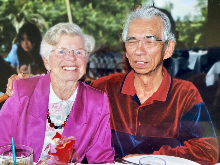 Alice and Bob Yee are pictured in 2005. Bob died in 2017 after they were married 47 years.