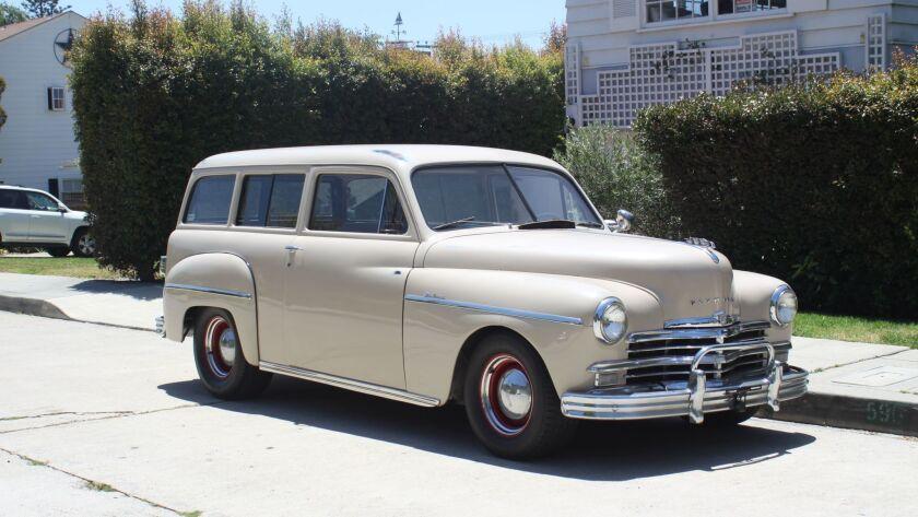 A 1949 Plymouth restored by La Jolla resident Bob Estrada