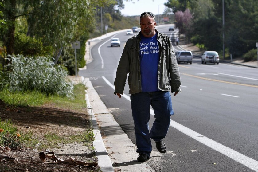 Mike Baxter has filed a $10.8 million claim against the city of Temecula in connection with the injuries his daughter sustained after being hit by a vehicle while walking along a stretch of Pauba Road that does not have sidewalks.