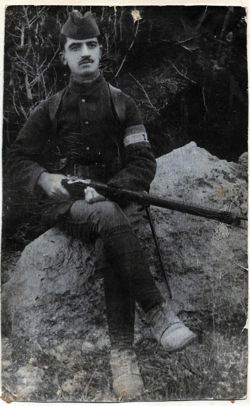 Hagop Abadjian, as a 20yr old defending Musa Ler (Musa Dagh), 1916. Eleen Abadjian Bedrosian was jus