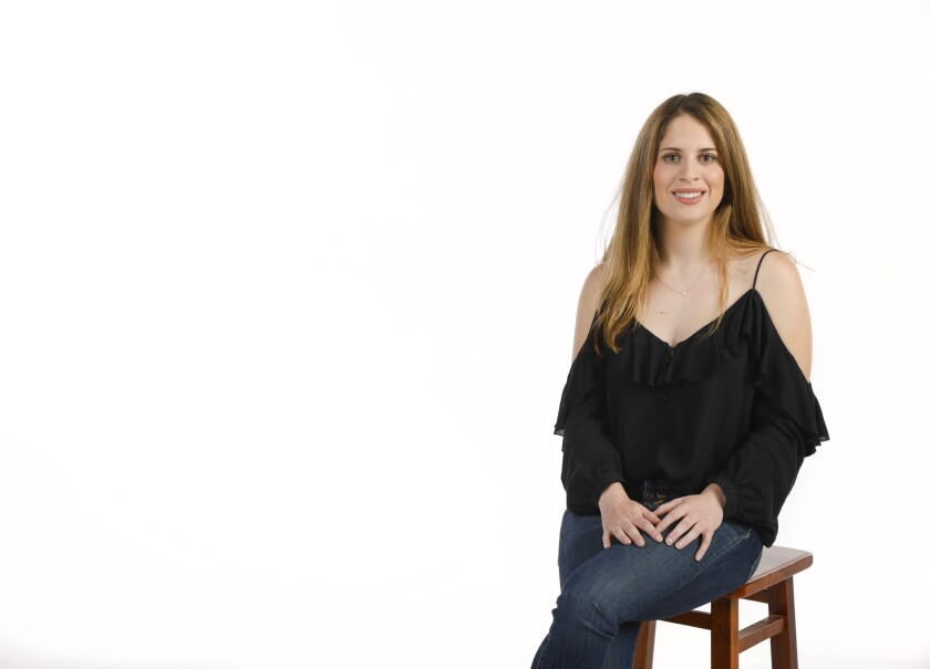 """Alli Emge is part of the cast of """"Silent NO MORE,"""" sharing a monologue of her story growing up in Coronado with hearing loss. The show will be performed June 29 at the Lyceum Theatre."""