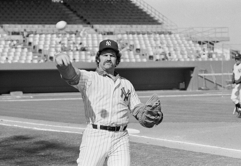 New York Yankees catcher Thurman Munson reports to spring training camp, Feb. 24, 1978 in Ft. Lauderdale.