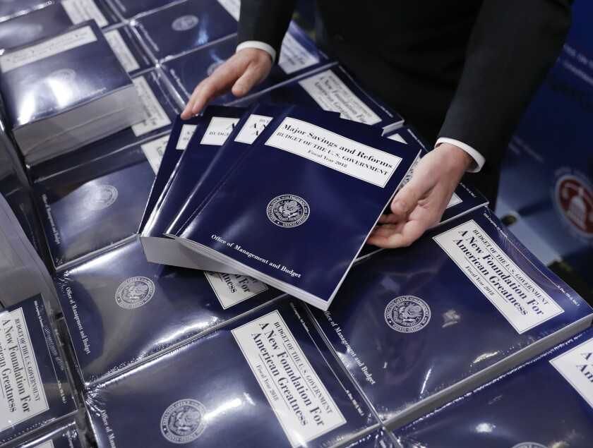 President Donald Trump's budget would likely result in a $720-billion deficit in 10 years, according to a Congressional Budget Office report.