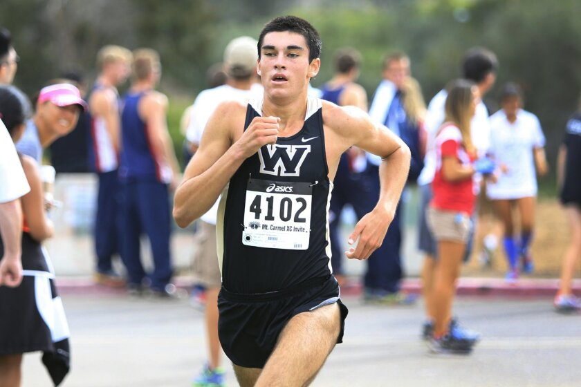 Westview runner Trevor Siniscalchi (shown earlier in the season) finished third in Division II in the state championships Saturday in Fresno.