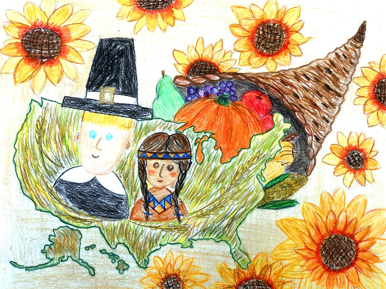 'Thanksgiving in America' in annual art contest