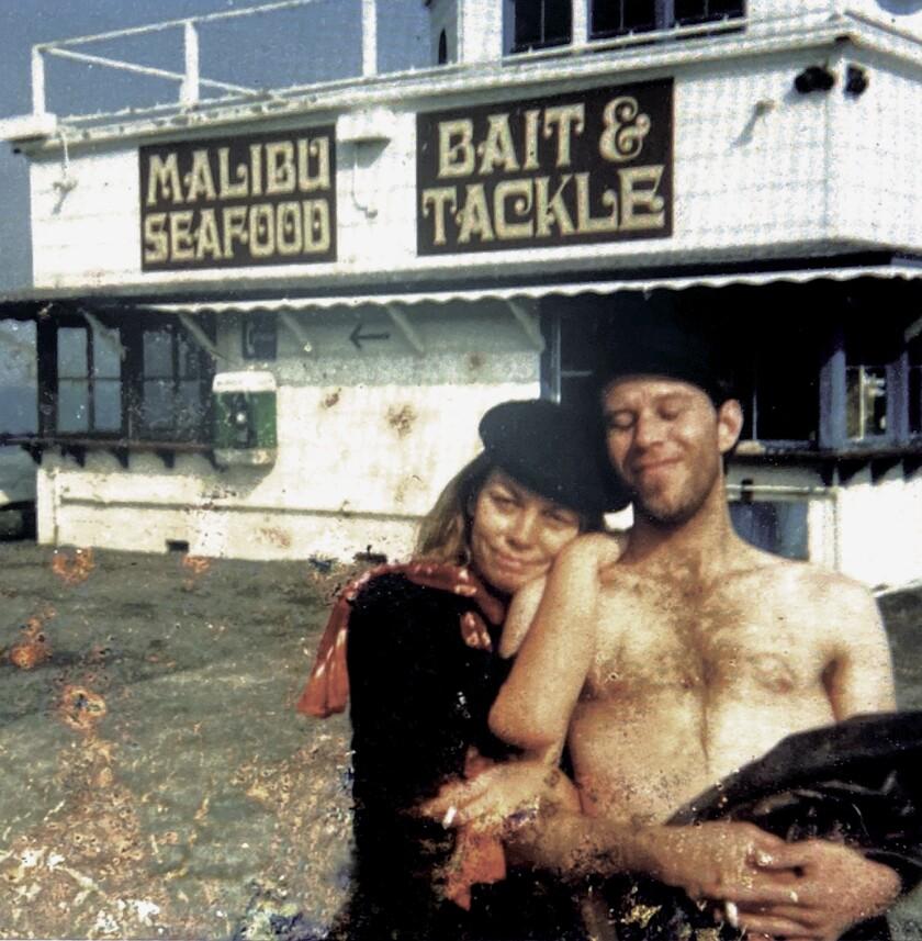 Rickie Lee Jones and Tom Waits on the Santa Monica Pier in 1978.
