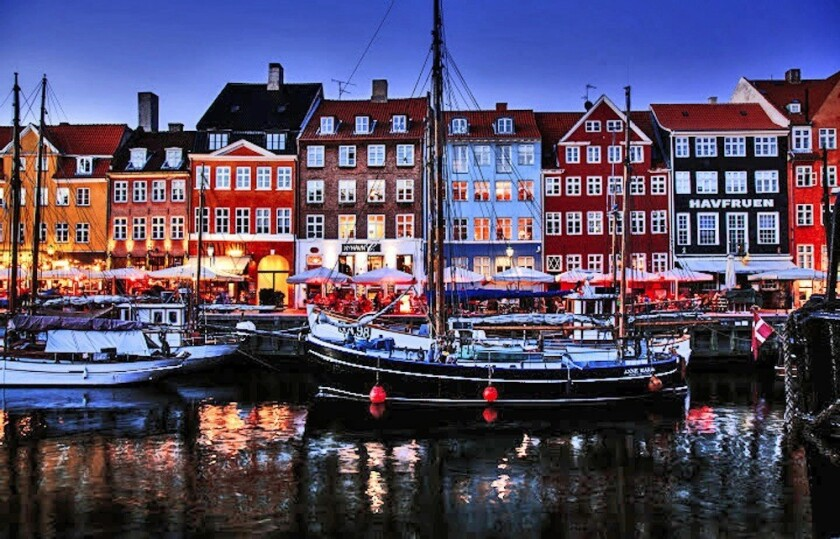 "The 17th century waterfront district of Nyhavn, which was used as the backdrop in ""The Danish Girl."""