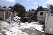 Fire destroys motorhome, shed in Shelltown