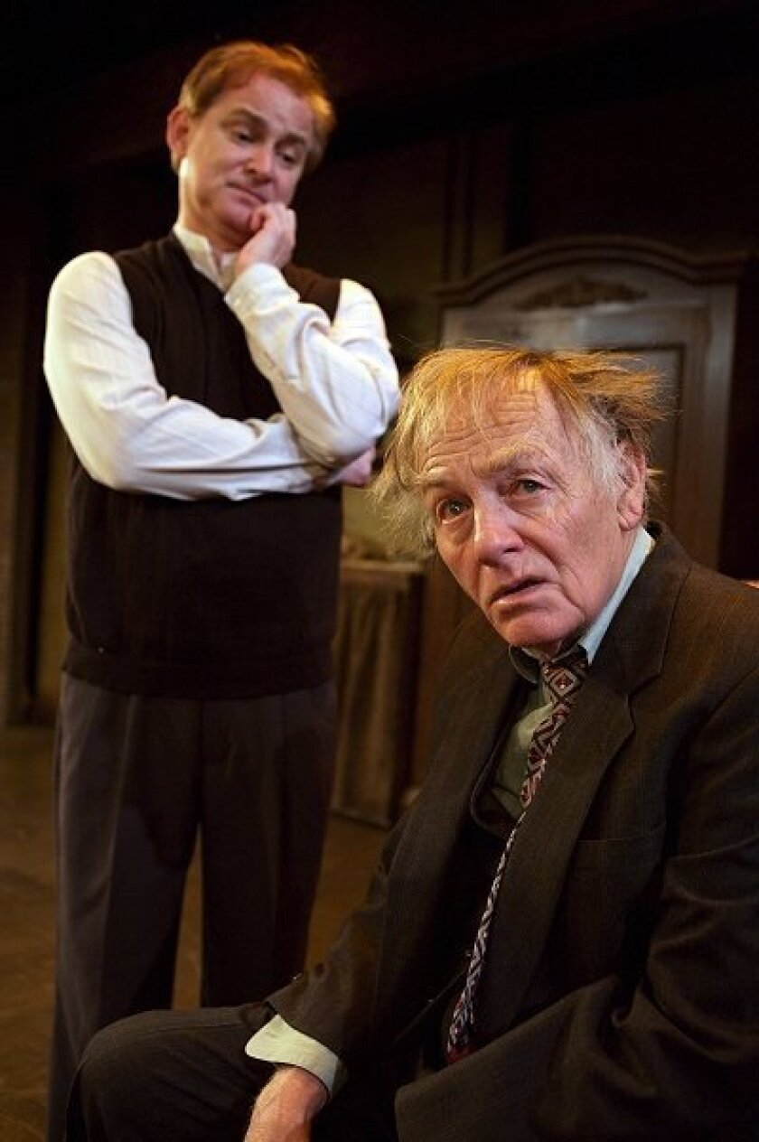 """Sean Sullivan (left) and  Jonathan McMurtry star in  the North Coast Rep's  production of """"The  Dresser."""""""