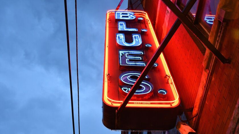 B.L.U.E.S. is a club on Halsted Street in Chicago's Lincoln Park neighborhood.