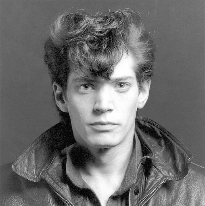 A 1980 self-portrait by Robert Mapplethorpe.