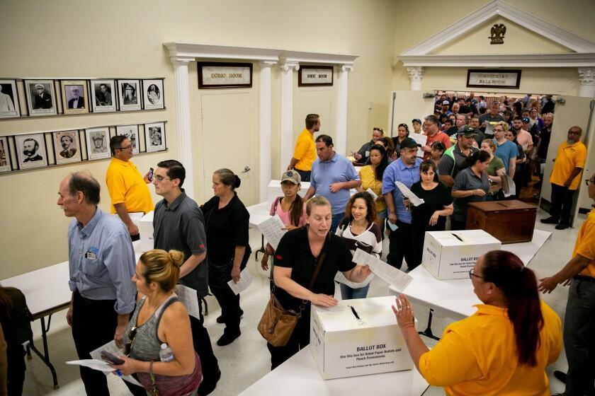 Grocery union vote