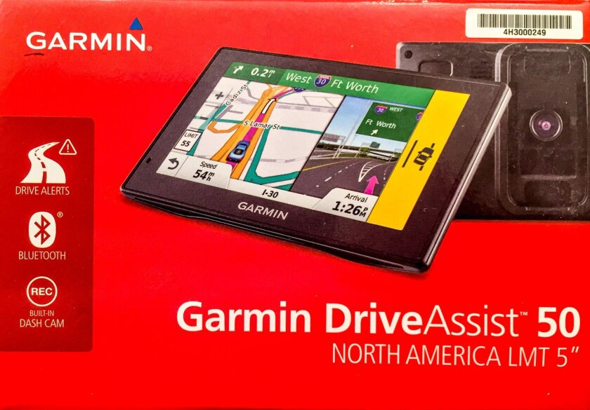 Garmin DriveAssist 50 GPS navigation with dash cam