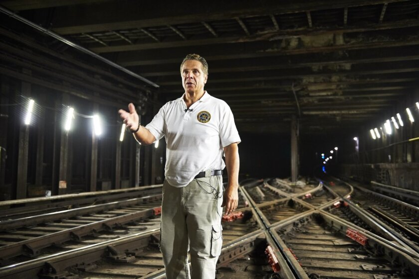 """""""We're looking at the largest single cluster of delays, which are 32,000 power-related delays."""" Gov. Cuomo placed the blame for summer 2017's transit delays on Con Edison during an Aug. 9 subway tour."""