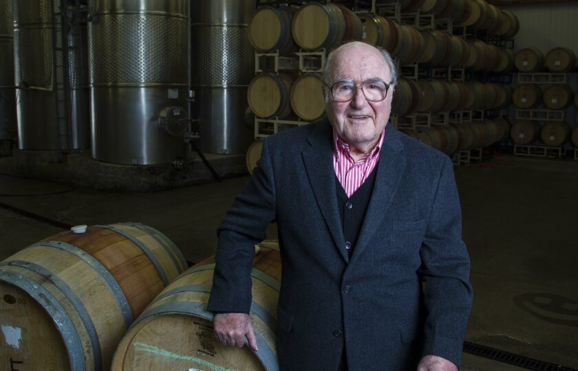 Alejandro Orfila, 90, at his Orfila Vineyards and Winery, one of San Diego's oldest and most established wineries.