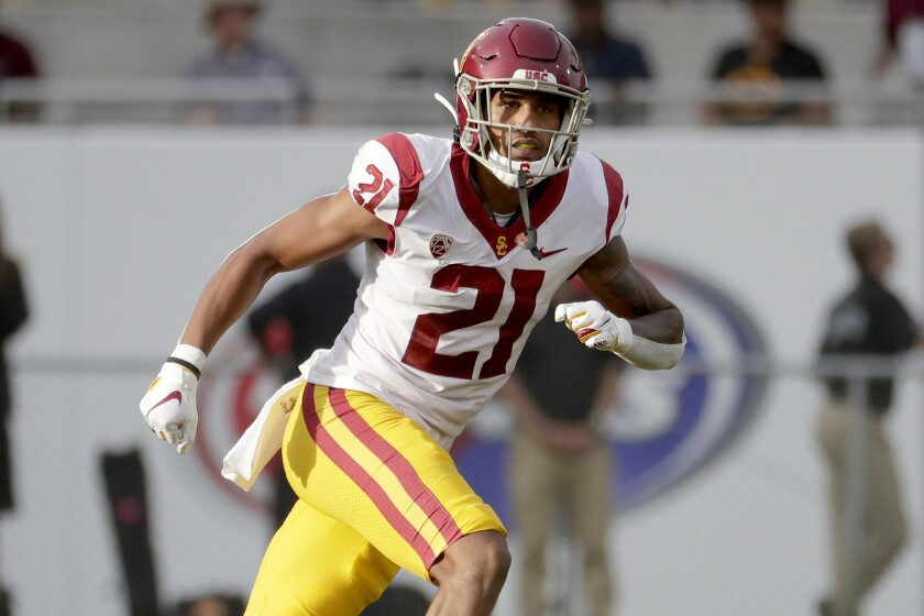 USC safety Isaiah Pola-Mao plays against Arizona State on Nov. 9, 2019, in Tempe, Ariz.