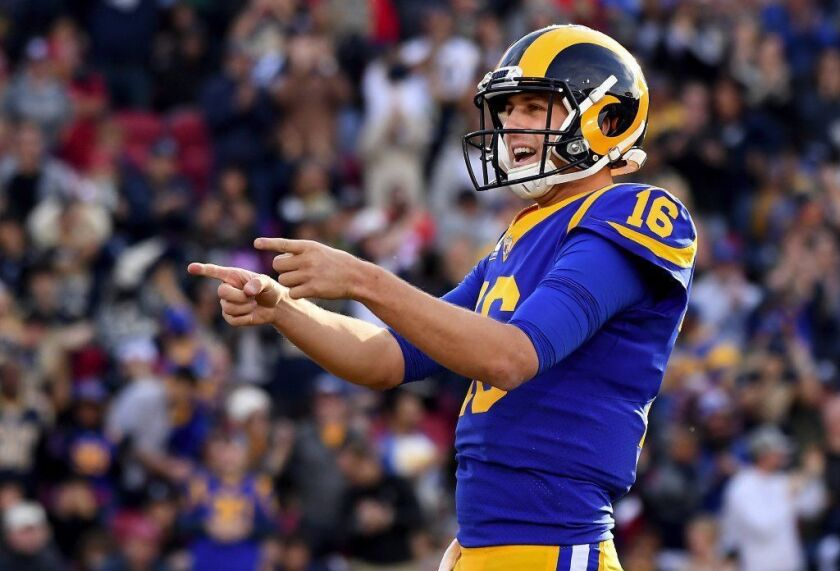 Rams quarterback Jared Goff.