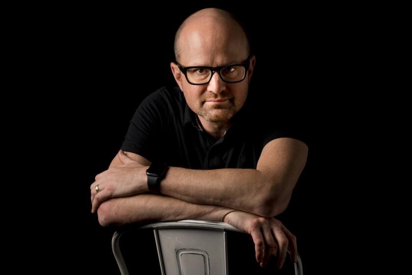 Burbank, CA NOVEMBER 8, 2018: Portrait of Brian Volk-Weiss at Comedy Dynamics in Burbank, CA Novembe