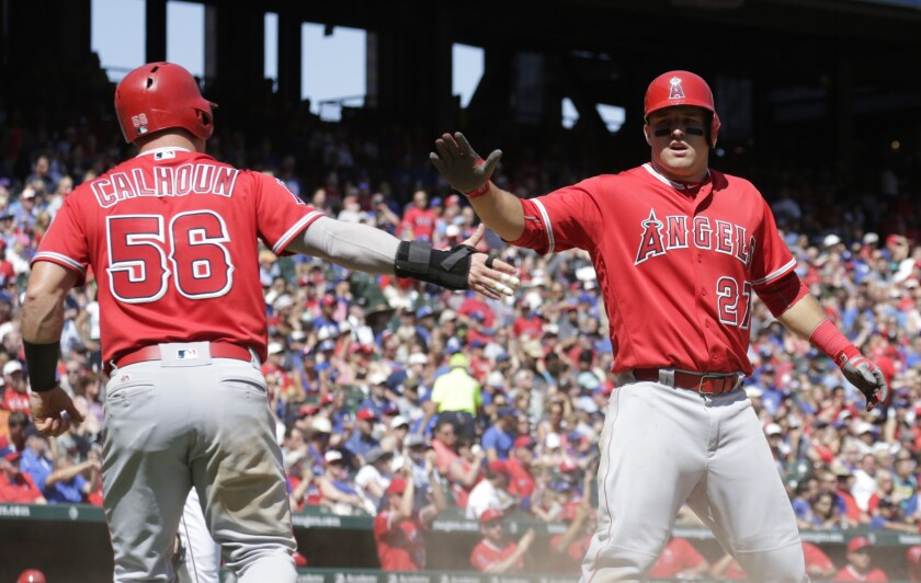 Garrett Richards gets plenty of support from Angels teammates in 9-6 victory over Rangers