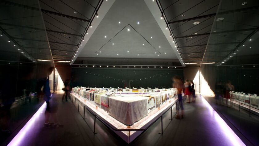 The Dinner Party by Judy Chicago installation view at the Brooklyn Museum. Credit: JongHeon Martin K
