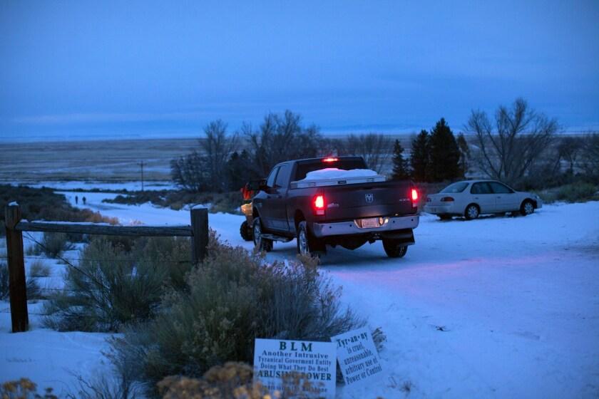 The occupied Malheur National Wildlife Refuge.