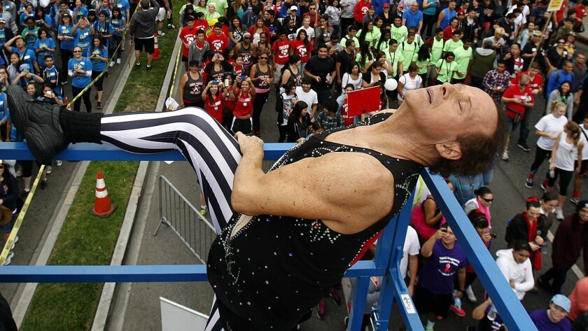 In October 2013, Richard Simmons warmed up the crowd for the 29th annual AIDS Walk Los Angeles.