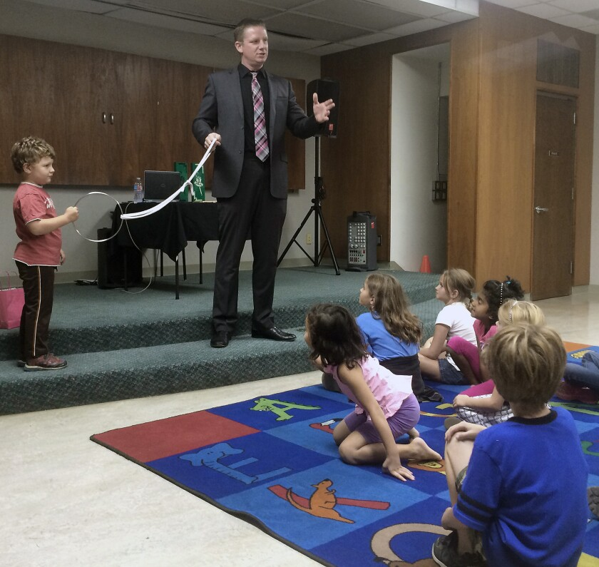 Patrick Bell performs at Burbank Central Library
